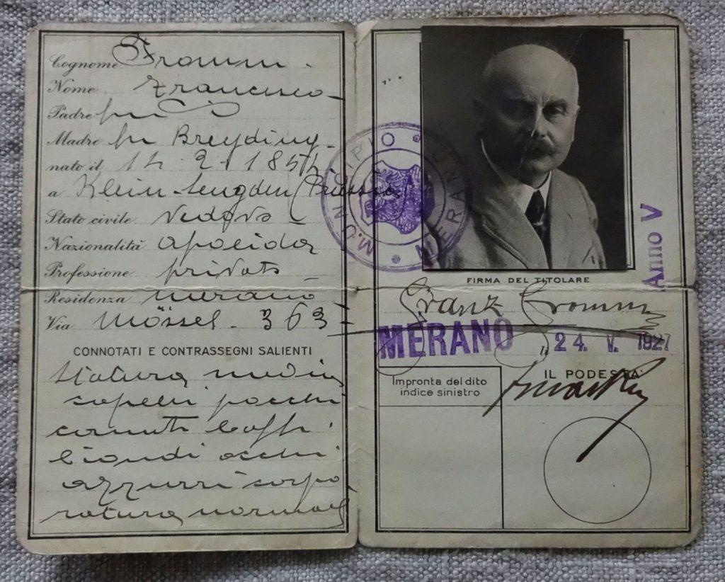 Ausweis Franz Fromm