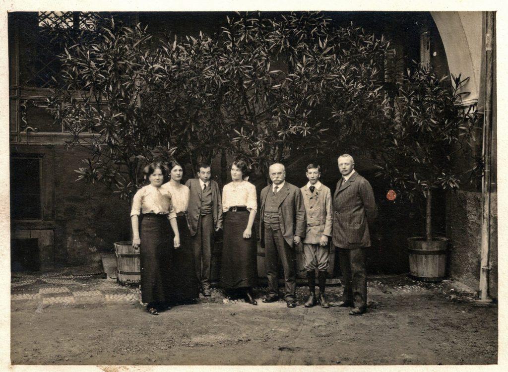 Familie Fromm mit Ernst Boscarolli