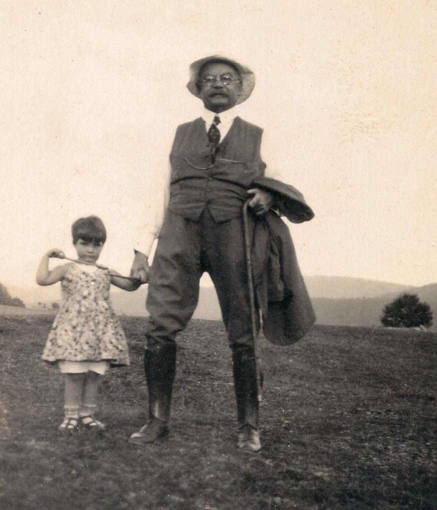 Franz Fromm with his granddaughter Rosamaria Navarini (c. 1930)