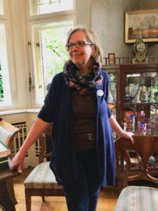 Ariane Karbe in der Villa Freischütz