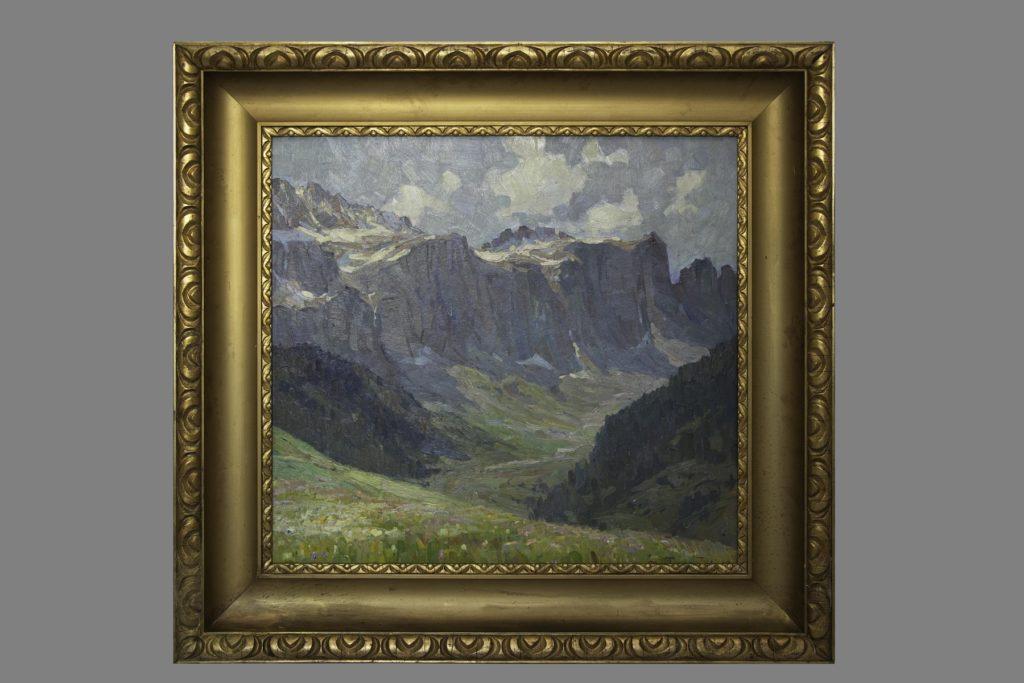 Gemälde mit Bergmotiv